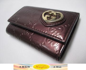 GUCCI グッチ 6連キーケース シマ GG ハート ブロンズ 中古本物