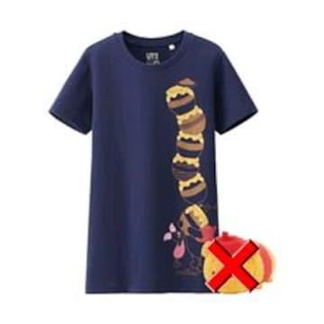 ユニクロ×Disney・くまのプーさんTシャツ。ネイビー