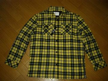 新品MBLSチェックシャツジャケットL黄中綿MARBLESマーブルズTMT