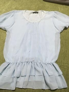 美品 シフォントップス L