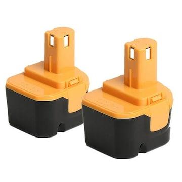 RYOBIリョービ B-1203F2 互換バッテリー 12V 3.0Ah2個セット