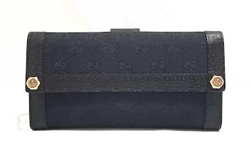 正規新品同様グッチGGキャンバス長財布153211ブラック黒財