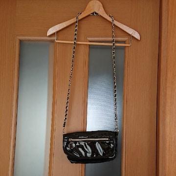 【値下げ不可】ブラック×ゴールド チェーン bag
