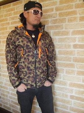 【TOMMY】トミーヒョウ柄フード付ナイロンパーカージャケットM♪ノースフェイス