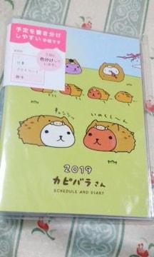 新品カピバラさん 2019年 スケジュール手帳定価\1728草原