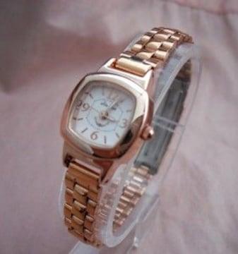 スクエアメタル腕時計PG