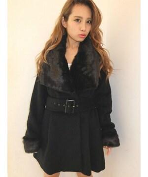 新品タグ付★リゼクシー★2wayレディファーコート ブラック/M 未開封 RESEXXY