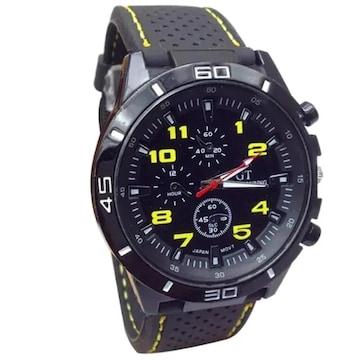 残1点790円★ベストセラー 高級感抜群の腕時計 黄色