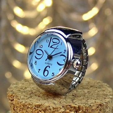 新品 未使用 指輪 時計 シンプル 9色対応  青