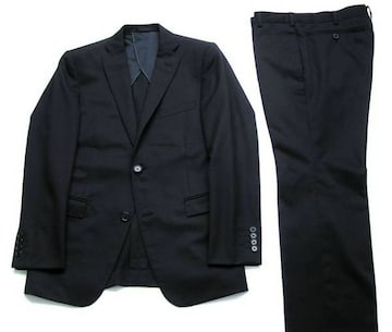 □ABAHOUSE/アバハウス セットアップ ブラック スーツ☆メンズ1/細身
