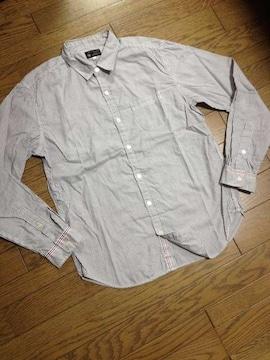 美品TK MIXPICE ライン入りストライプシャツ タケオキクチ