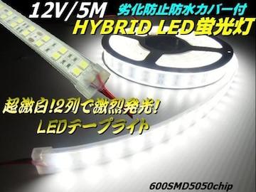 12V船舶漁船向き5M巻カバー付LEDテープライト蛍光灯航海灯集魚灯