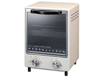 オーブントースター ホワイト ヒーター調節4段階・縦型2段