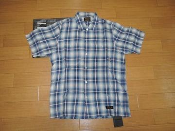新品NEIGHBORHOODネイバーフッドB&CチェックシャツM青半袖