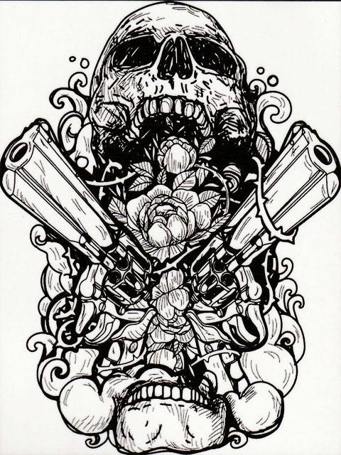 刺青 参考本 USA製 デザイン本 【 Tattoo COLORING BOOK 】 322 < ホビーの