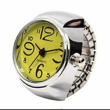 新品 未使用 指輪 時計 シンプル 9色対応 黄色