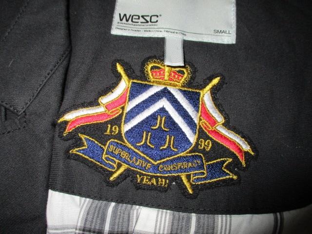 WESC ウィーエスシー トレンチコート USA−S < 男性ファッションの