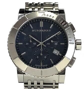 正規バーバリー時計クロノグラフBU2308回転ベゼルクォ
