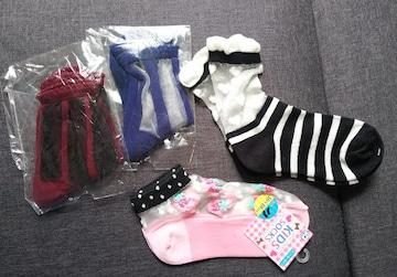 16〜18cm★シアーソックス4足セット★女の子靴下まとめ売り