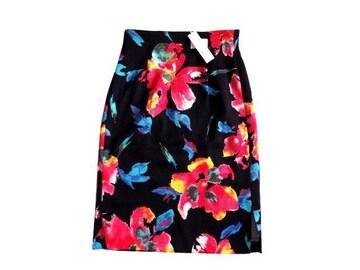 新品 定価7900円 M.deux エムドゥ 花柄 タイト 膝丈 スカート S