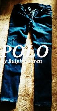 【POLO】ラルフローレン Vintage Washed スリムストレートジーンズ 36/M.Wash