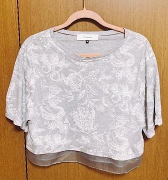 ЩЯ】�@ルッシェルブルー重ね着風 Tシャツ 38サイズ フルーツ柄