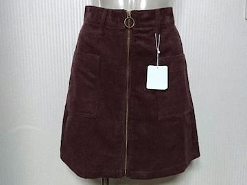INGNI★フロントジッパー コーデュロイ スカート