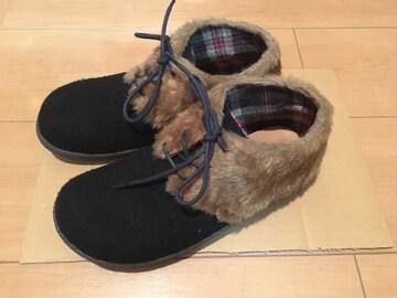 ファー ショートブーツ