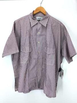 UNITUS(ユナイタス)ビックシルエットストライプコットン半袖アロハシャツシャツ