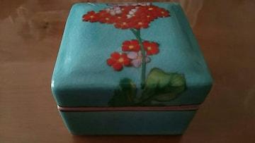 中国上海☆陶器の花柄小物入