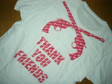 Mエム×roarロアーコラボロゴTシャツS白TMT二丁拳銃