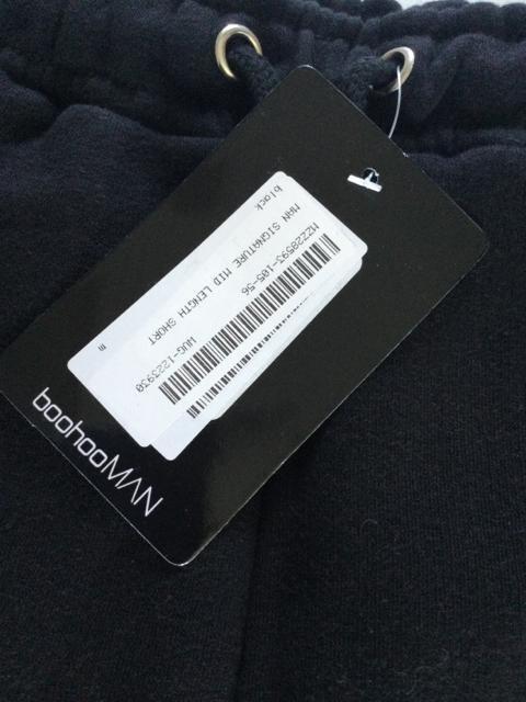 新品 boohooman ショートパンツ ブラック M < 男性ファッションの