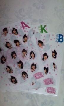 AKB48「満席祭り賛否両論」クリアファイル セット