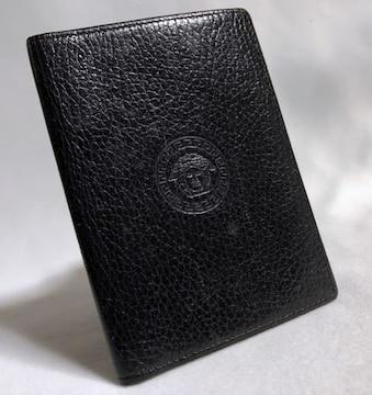 正規美レア ヴェルサーチVERSACE メデューサロゴ カードケース 黒 名刺入れ パスケース
