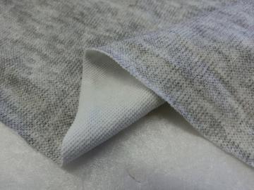 綿系ニット生地140cm×4.5m杢グレー