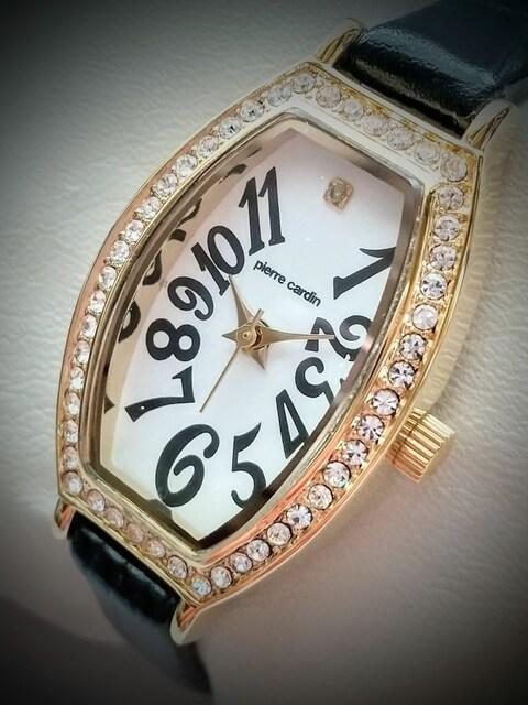腕時計 レディース quartz pierre cardin 3針 ピエールカルダン < ブランドの
