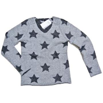 新品ESTHEME CACHEMIREパリ発カシミア100%星柄セーター グ