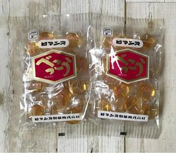 ロマンス製菓 べっこう飴 2袋セット 直火焚き 北海道 お土産