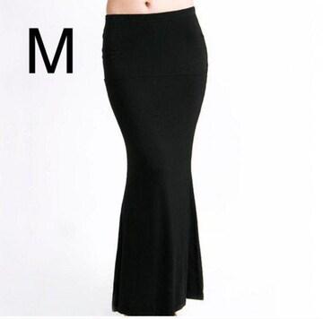 新品☆シンプル♪マキシスカート ブラック M