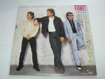ヒューイ・ルイス&ザ・ニュースFORE!LPレコード初回特典付国内盤