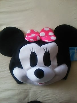 新品ミニーちゃん、可愛いかぶり物