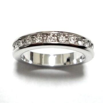 13号 クリスタル フルエタニティ シルバーリング 指輪
