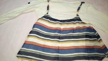 女児スカート付き長袖Tシャツ110