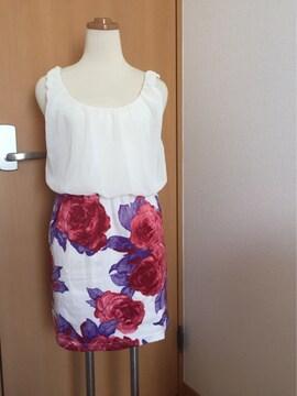 花柄スカート ワンピース