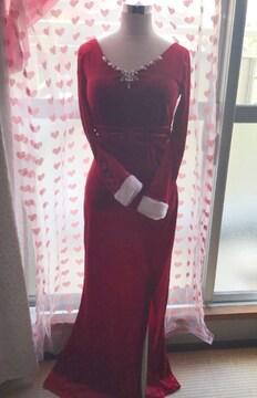 ソブレ ビジュ 上品 高級 サンタ ロングドレス