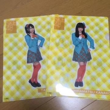 SKE48 平松可奈子 竹内舞 1番くじ クリアファイル AKB48