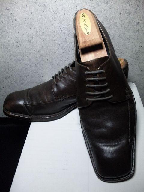 アルフレッドバニスター〓スクエアレースアップシューズ靴/42  < ブランドの