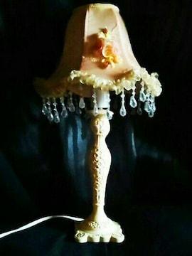 薔薇 シャンデリア テーブルランプ ライト 照明 ビンテージ 姫系