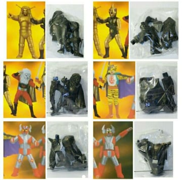 ○ 超人ヒーロー伝説『2001 フィギュア6体セット』386g 未使用