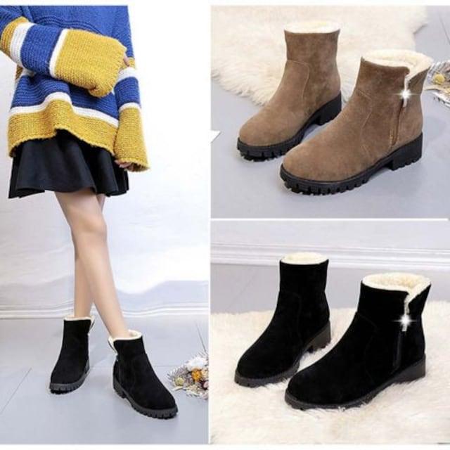 定番ショートボアブーツ ムートンブーツ レディース ショートブーツ 履きやすい < 女性ファッションの